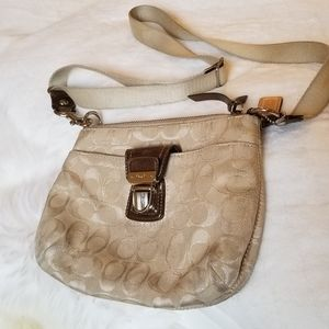Beige Coach Crossbody